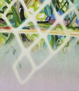 crystalline 2014 Oil on cotton, panel 75 x 65 cm