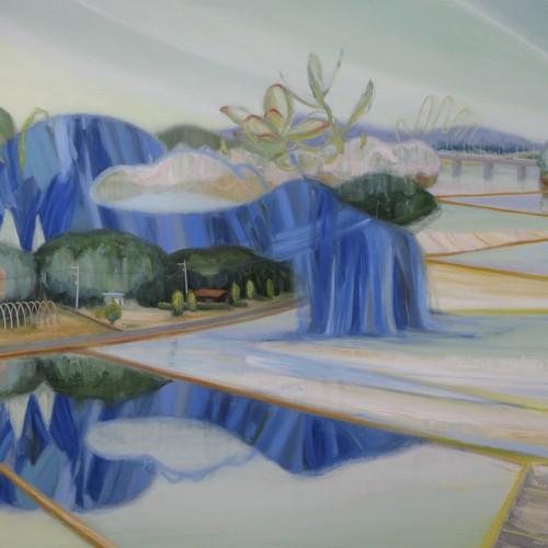 いきをする ハイウェイ breathe highway  2013 Oil on cotton, panel 130 x 162 cm