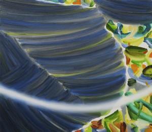 水際に at the water's edge 2014 Oil on cotton, panel 45.5 x 52 cm