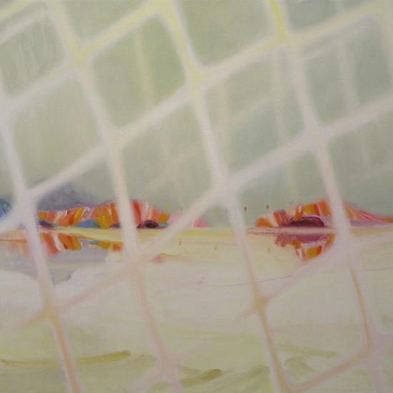 ほどけゆく岸 Bank unravels  2013 Oil on cotton, panel 67.2 x 91 cm