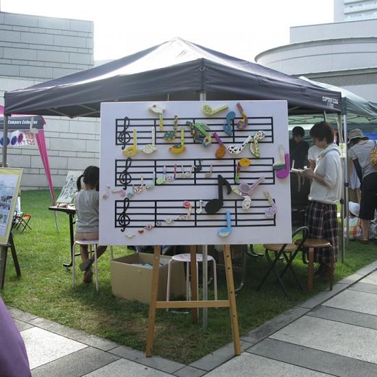 """〈 あおぞらクラフトいち / workshop """"onpu+"""" 〉2012"""