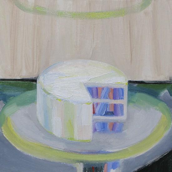 cake B 2013 Oil on cotton, panel 19 x 23.3 cm