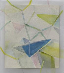 空気を組むと composing air 2014 Watercolor, acrylic and color pencil on paper 22.4 x 19.6 cm