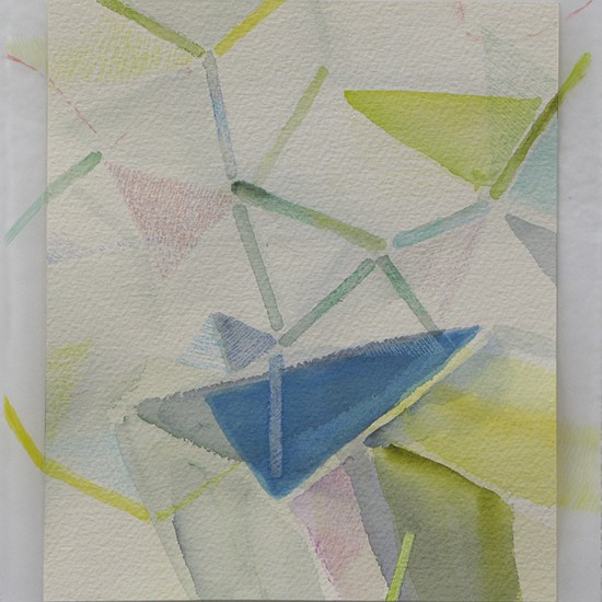 空気を組むと composing air 2014 Watercolor, acrylic and color pencil on paper 22.4 x 19.6 cm