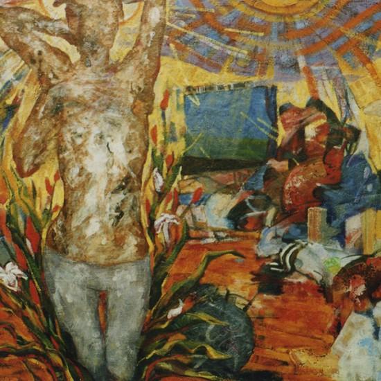 部屋悪魔 Demon in a room 2003 Oil on cotton, panel 130 x 162 cm