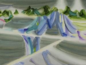 drop 2014 Oil on cotton, panel 24 x 32 cm