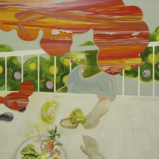 Food For Peace 2011-2012 Oil, acrylic, beeswax and pencil on cotton, panel 120 x 120 cm