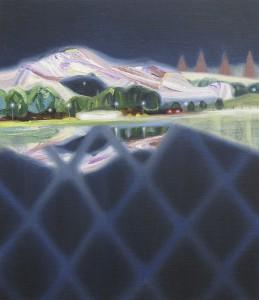 夜の骨格 frame of night 2013 Oil and acrylic on linen, panel 40.8 x 35 cm