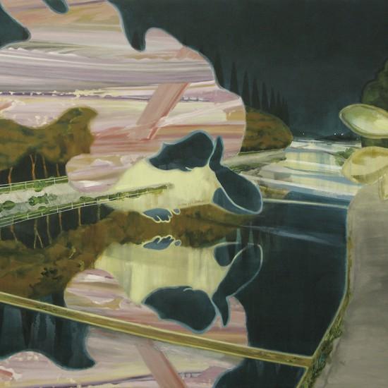 ご近所変化 MONONOKE in My Neighborhood 2012 Oil, acrylic, beeswax and pencil on cotton, panel 130 x 162 cm