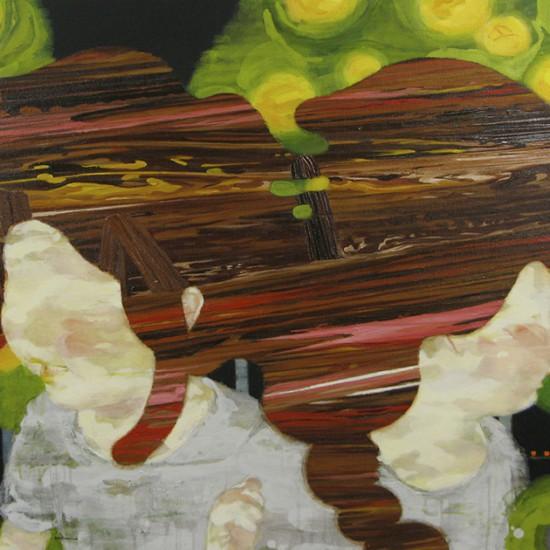 温室 hothouse 2010-2011 Oil, beeswax and pencil on canvas, panel 91.3 x 130 cm