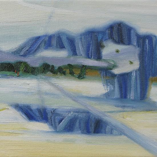 kitakaze san Ms. North wind 2013 Oil on canvas 24.2 x 33.3 cm