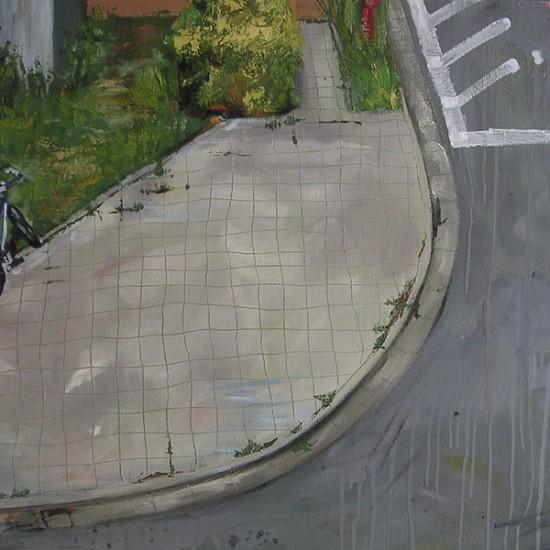 曲がり角の風景 landscape at a turn 2004 Oil and acrylic on canvas 60.7 x 72.7 cm
