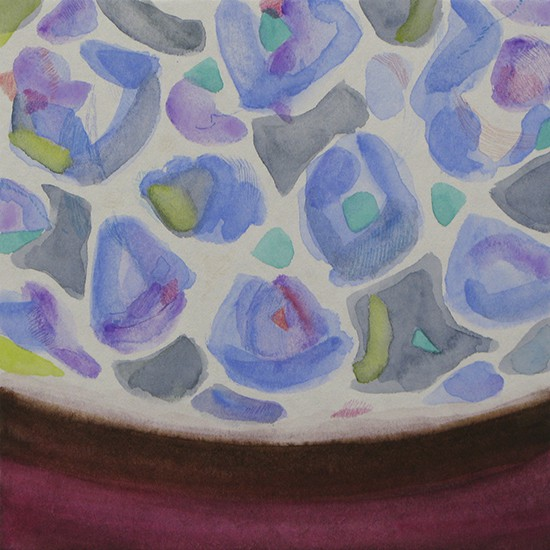 リラ lilac 2014 Acrylic and color pencil on paper, panel 18 x 18 cm