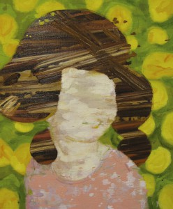 """prime number girl """"dandelion"""" 2009 Oil, beeswax and pencil on linen, panel 80.3 x 65.2 cm"""