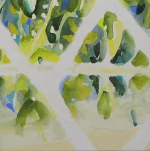 リフレク reflec 2014 Acrylic and color pencil on paper, panel 18 x 18 cm
