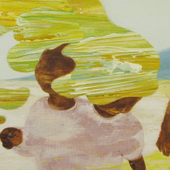 はまべの on the shore 2010 Oil, beeswax and pencil on linen, panel 50 x 60 cm