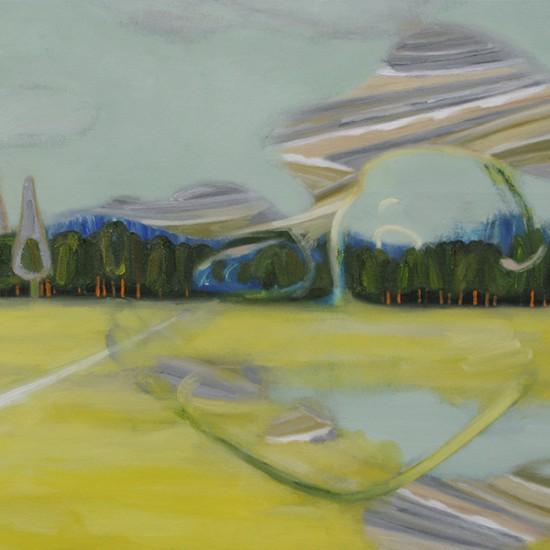 スリーパー sleeper 2012 Oil, acrylic and pencil on cotton, panel 45.5 x 51.8 cm