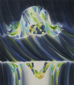 浸かる子 the soaking 2014 Oil on cotton, panel 52 x 45.5 cm