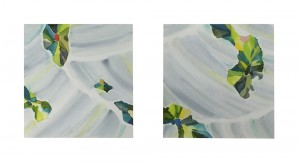 やわらかい星 soft star 2014 Watercolor and gouache on paper 11.5 x 11.1 cm x 2