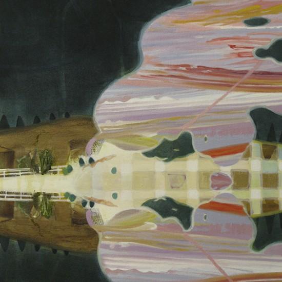 いいかげんな丘 a vague hill 2011 Oil and acrylic on cotton, panel 45.5 x 38 cm