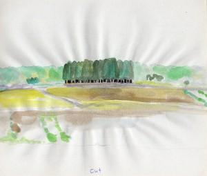 cut 2008 Watercolor on paper 21.4 x 24 cm