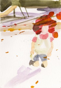 untitled 2009 Watercolor on paper 19.7 x 13.7 cm