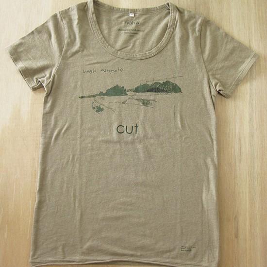 cut / Adagio Sostenuto 2010 Screen printing on T-shirt (moss green) M
