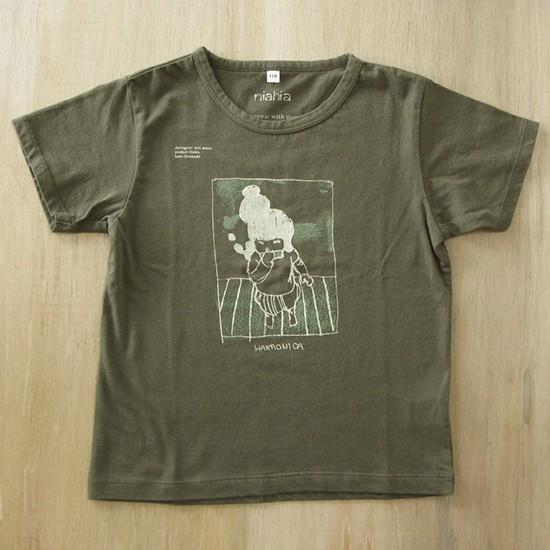 Harmonica 2010 Screen printing on T-shirt (khaki) kids 110
