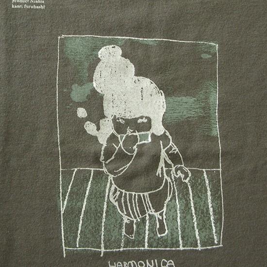 Harmonica (detail) 2010 Screen printing on T-shirt