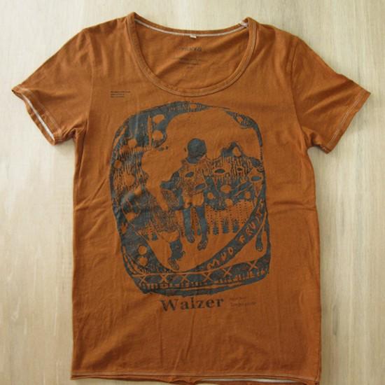 walzer / Tempo Giusto 2010 Dyeing and screen printing on T-shirt (Habana brown) M