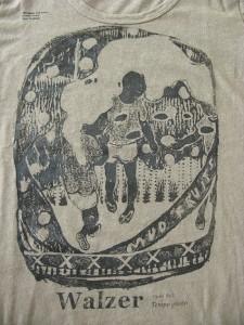 walzer / Tempo Giusto (detail) 2010 Screen printing on T-shirt