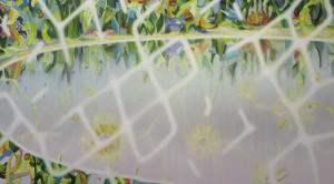 不在の召喚 summon nothingness 2015 Oil on cotton, panel 182 x 330 cm