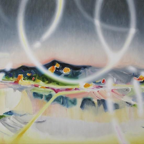 炎上 flames 2016 Oil on cotton, panel 91.3 x 109.7 cm