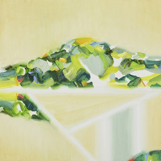 あらわれの山 appear as a mountain 2016 Oil on cotton, panel 30 x 30 cm Photo by Kenji Otani