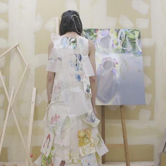 """透明人間にならない/まじない drawings as charms, lots of restless lines 2017 video (6'22"""")"""