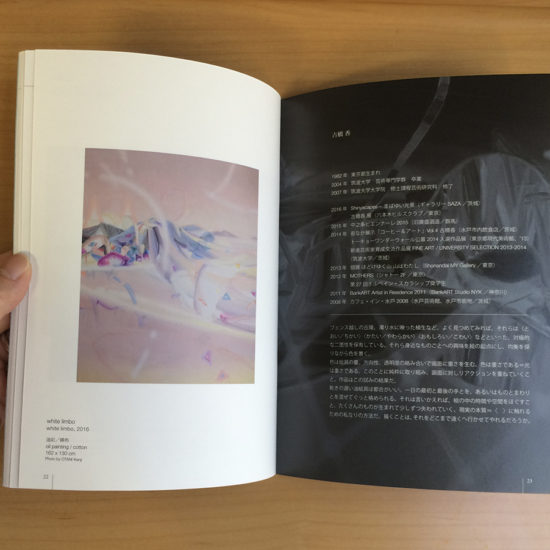 mini catalogue of the exhibition〈 Upcoming Artists Selection FAUSS 2016 〉2016