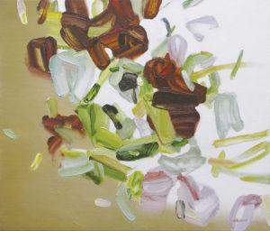 bloom 2018 Oil on cotton, panel 45.5 x 53 cm