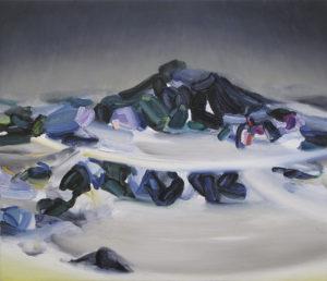 boundary of brightness 2018 Oil on cotton, panel 45.5 x 53 cm