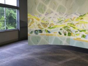 遭難のとき Lost in the Mountains (Detail) 2019 Oil on cotton on panel 200 x 460 cm