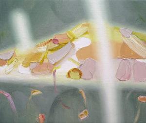 """島 を あつめる / シュガー collecting islands """"sugar"""" 2019 Oil on cotton on panel 19 x 24 cm"""