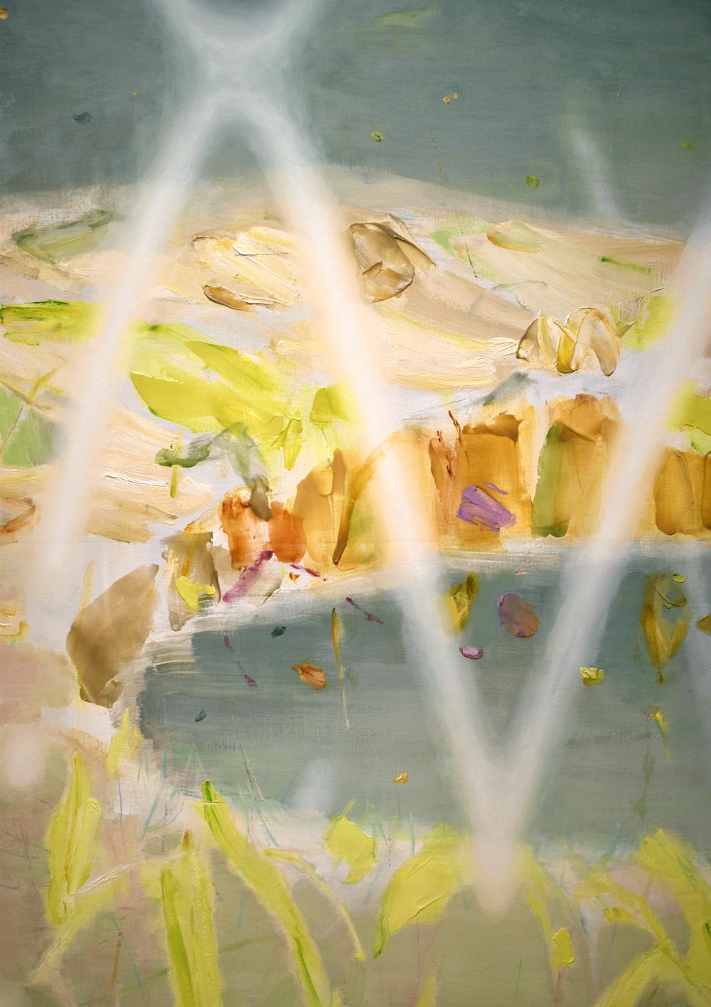 〈 草色と午後、忘れること 〉2021 (detail)